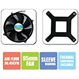 Zebronics CPU Cooling Fan For Socket LGA 775 Cooler (Black)