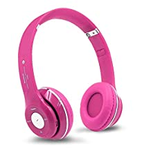 Colour-Store Wireless S460 On-ear Stereo Bluetooth Headset Headphone Wireless Earphone for Cell Phone With Gift (Pink)