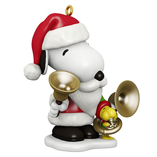 Hallmark Keepsake Christmas Ornament 2018 Year Dated, Peanuts Spotlight on Snoopy Bell-Ringer Snoopy -