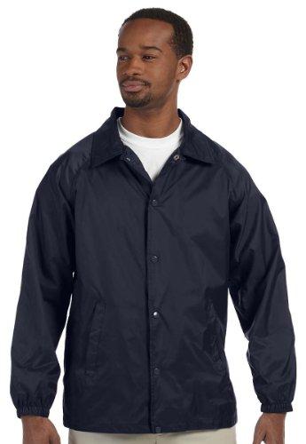 Harriton Men's Nylon Staff Jacket M775 -NAVY XL