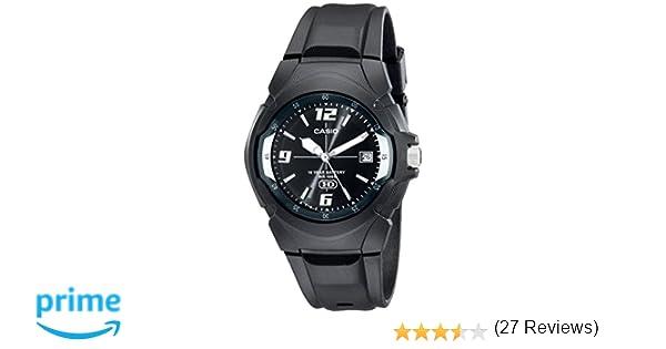 Casio MW600F-1AV - Reloj para hombres, correa de goma color negro: Amazon.es: Relojes