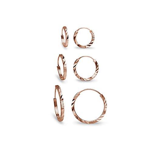 Diamond Endless Earrings Sterling Silver