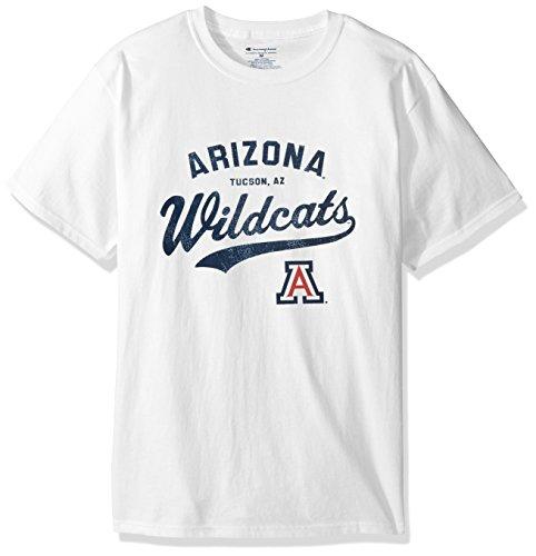 NCAA Arizona Wildcats Men's Champ Short Sleeve T-Shirt 8, Medium, White -