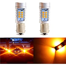 1156 1003 BA15S P21W 1156A Turn Signal Bulbs Light 21 SMD Super Bright Blinker Bulb Tail Light LED Bulb 2835 Chips Lights Lamps (Set of 2)