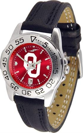 - NCAA Oklahoma Sooners Ladies Game Day Sport Leather AnoChrome Watch