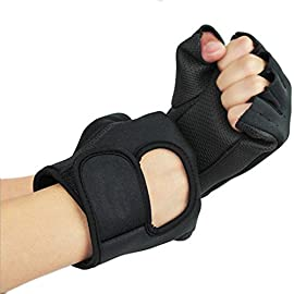 K-mover Weightlifting Sport Exercise Cycling Gloves Fitness Half Finger Gloves for Men/Women