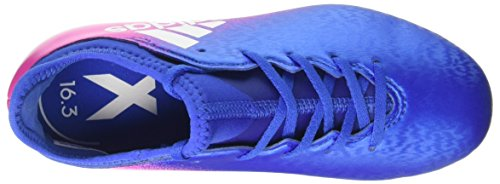 adidas X 16.3 Fg J, Botas de Fútbol para Niños Azul (Blue/footwear White/shock Pink)