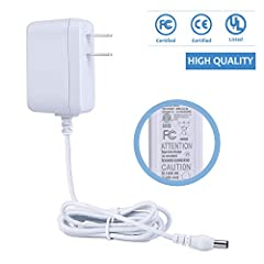 Model: TSL-0901 Input: 100V~240V , 50~60Hz Output: DC 9V 1A / 1000mA  DC plug size Outer Diameter: 5.5mm . Inner Diameter: 2.5mm(compatible with 2.1mm)  Plug Specifications: US Plug Power Supply with LED indicator Line length: 1.5M The adapte...