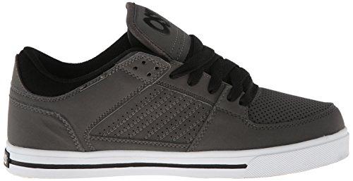 Osiris Mens Protocol Skate Schoen Houtskool / Wit / Zwart
