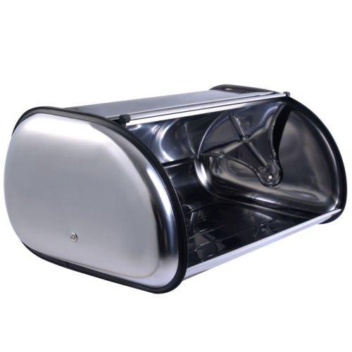 New Stainless Steel Bread Box Storage Bin Keeper Food Container Kitchen