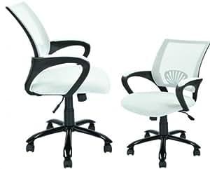 White Ergonomic Mesh Computer Office Desk Task