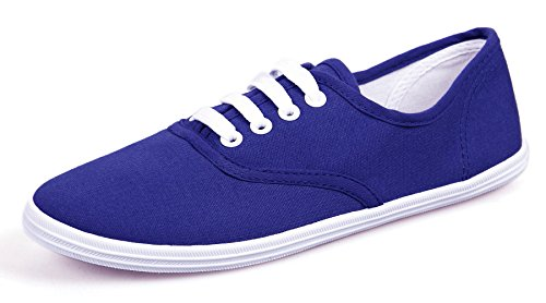 Blue Royal VenusCelia Champion Sapphire Canvas Sneaker Original Women's SwxnBWOqR1