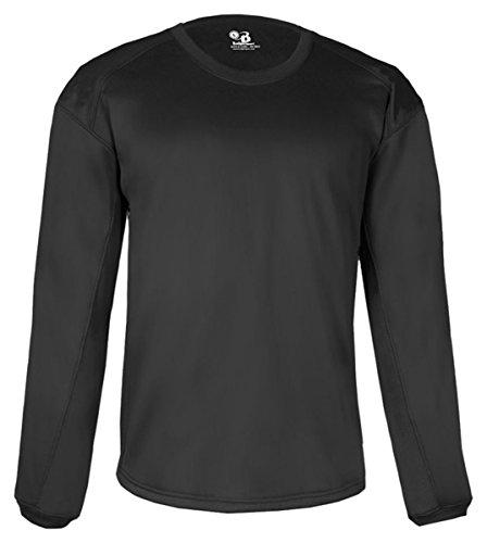 Badger Mens BT5 Performance Pullover Crewneck Sweatshirt (1453) -BLACK ()
