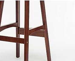Zhdc® sedia da bar americano sgabello alto in legno massello