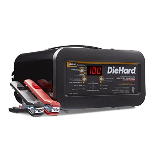 DieHard 71326 6/12V Gold Shelf Smart Battery Charger and 12/80A Engine Starter