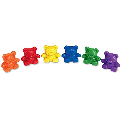 Learning Resources Baby Bear Counters, Color Recognition, Math Skills, 102 Pieces, Assorted Colors, Ages 3+