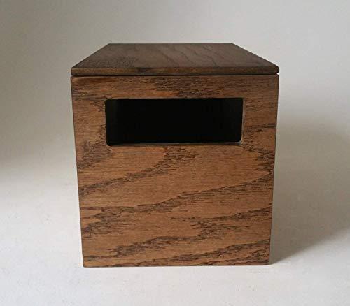 """Craft Supply Storage Tote. 10 x 6 x 6"""". Stained Dark Walnut from Centerpiece Box"""