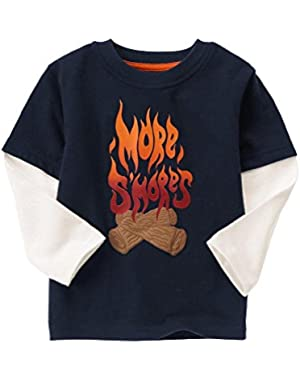 Baby Boy'sMore S'Mores Long Sleeve Tee 6-12 Months
