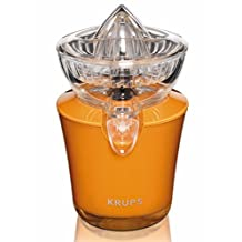 KRUPS ZX720K Electric Acrylic Citrus Juicer with Automatic Fruit Pressure Detection, Orange by Groupe SEB