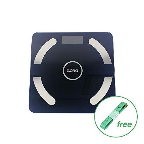 (Bluetooth Body Fat Scale Smart BMI Scale Digital Bathroom Wireless Weight Scale, Body Composition Analyzer with Smartphone App 396 lbs (Black))