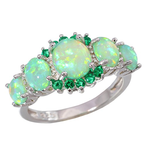 color gem stone rings - 4