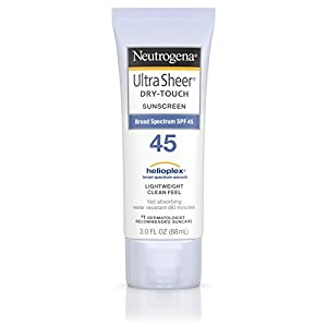 Neutrogena Ultra Sheer Dry-Touch Sunscreen, Broad Spectrum Spf 45, 3 Oz.