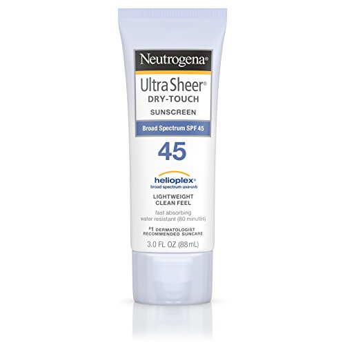 Neutrogena Ultra Sheer Dry-Touch Water Resistant and Non-Greasy Sunscreen Lotion with Broad Spectrum SPF 45, 3 fl. oz