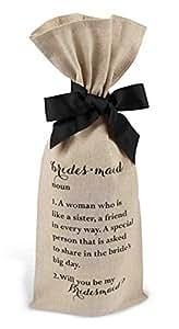 Mud Pie Bridesmaid Ask Bottle Bag, Brown