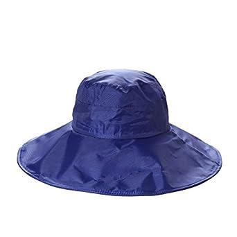 9bb2beeaf6d1cd Women's Rain Hats Waterproof Rain Hat Wide Brim Bucket Hat Rain Cap Sun Hats  (Navy