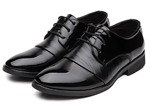 CSDM Uomo Casual Scarpe Uomo Inghilterra punta con piede traspirante in gomma Bottom , black , 40