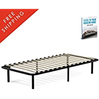 Platform Bed Frame Twin XL Mattress Size Modern Standard Basic Simple Contemporary Sturdy Black Pedestal Classic Decorative Metal Wooden Slats Best Sleep For Womens Girl And Boy And eBook By NAKSHOP