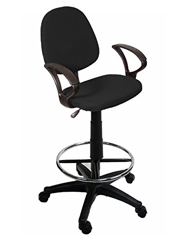 The Green Group Drafting Chair With 360 Footrest & Swivel And Arm Rest by The Green Group