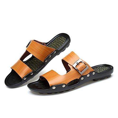 excursiones Adecuado 1 verano 3 41 Size al ocasionales Color de Brown actividades de natación aire para playa y Zapatillas antideslizantes EU hombres Blue Zapatillas lavables y libre para vTxSw4