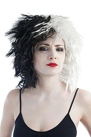 Ptit Clown 30720 – Peluca Cruela, talla única, color negro y blanco
