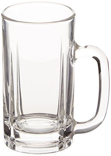 Mikasa Brewmaster's Traditional Glass Beer Mug, 16-Ounce, Set of 4 Mugs