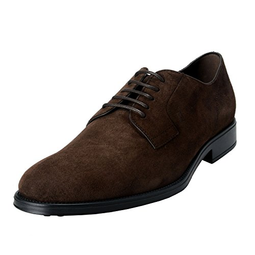 Tods Menns Semsket Brown Derby Fondo Oxfords Sko Brun