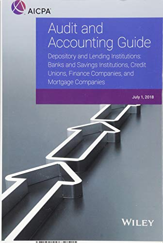 Audit and Accounting Guide – Depository and Lending Institutions Front Cover