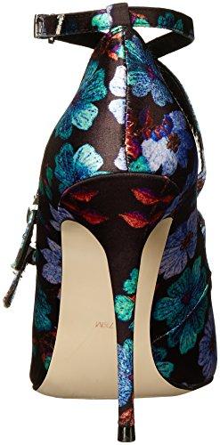 Satin Women's Nicole Pump Embroidery Miller Flower Dress Bristol ZPHHXx76
