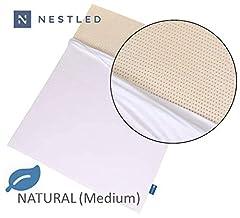 100% Natural Latex Mattress Topper with Cotton Cover - Medium Firmness.