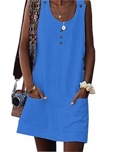 Mini Asskdan Tunique Plage Bleu Sans Avec Vest D'été Robe Dress 1lTJ3cFK
