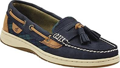 Sperry Top-Sider Women's Tasselfish,Navy Leather/Green Plaid,US 5 M