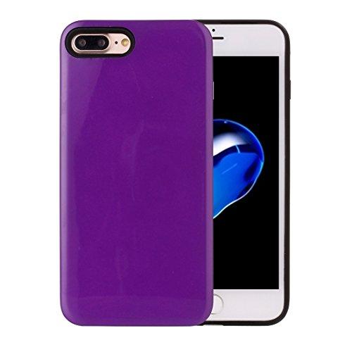 Pour iPhone 7 Plus TPU + PU Combinaison Housse de protection arrière BY EKINHUI ( Color : Purple )