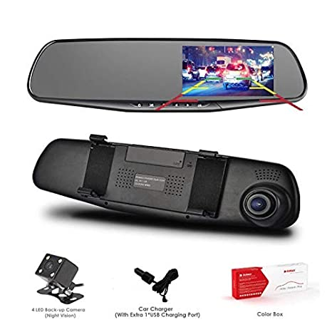 Amazon Com Dash Cam Oumax Dual Lens Car Camera Car Video Recorder