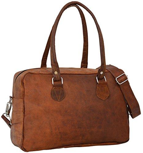"""Sac cabas - Gusti Cuir nature """"Emily"""" sac en cuir vintage sac de shopping rétro sac à main sac en bandoulière sac de loisirs homme femme cuir de chèvre marron clair M25 c"""