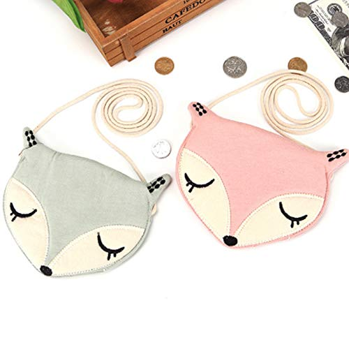 girls Children's Pink shoulder Children fox gift SODIAL one for cute baby Lovely accessories Day purse Pink Perfect an messenger bag coin bag U1nqzAwn