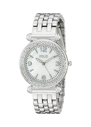 Folio Women's FMDFOL008 Analog Display Quartz Silver Watch - Folio Watch