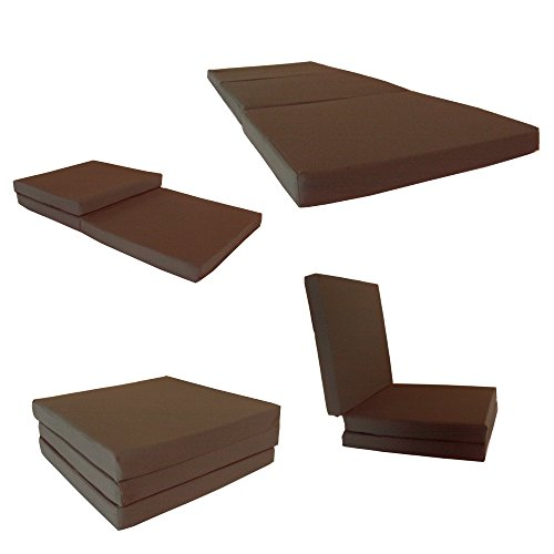 Brand new brown shikibuton trifold foam beds 3 thick x 27 for How long should a bed mattress last