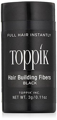 TOPPIK Hair Building Fibers, Black, 0.11 oz.