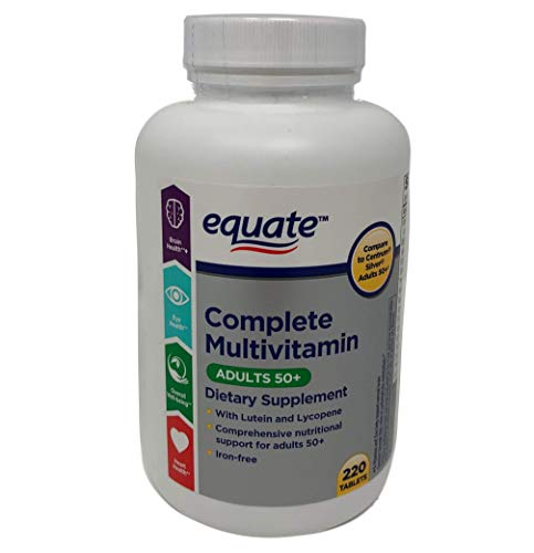 Equate Mature Adult 50+ One Daily Complete Multivitamin Compare to Centrum Silver ® Adults 50+ 220 Count