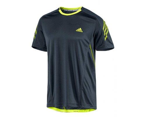 Adidas - Camiseta de running para mujer, tamaño XS, color tech onix f12 / electricity: Amazon.es: Ropa y accesorios